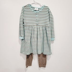 Hanna Andersson Striped Tunic & Leggings Size 110